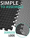 Puzzle Exercise Mat with 12 Tiles Interlocking Foam Mats, 24'' x 24'', ½'' Thick EVA Foam Floor Tiles, Protective Flooring for Gym Equipment and Cushion for Workouts