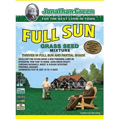 Jonathan Green & Sons, 3 lb, Full Sun Grass Seed Mixture : Garden & Outdoor