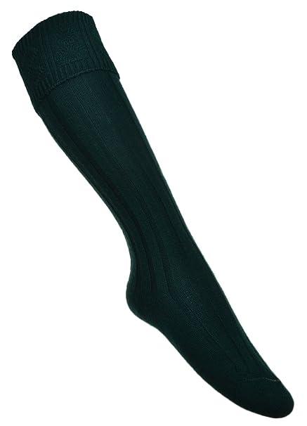 Varie taglie disponibili calze da kilt verdi scure