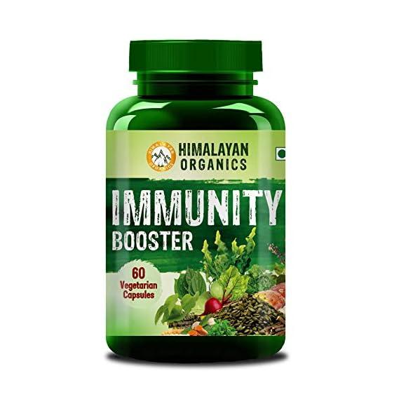 Himalayan Organics Organic Immunity Booster with Vitamin C | Whole Food & Natural | 60 Vegetarian Capsules