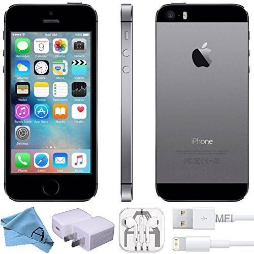 Apple iPhone 5S Factory Unlocked GSM 4G LTE Smartphone (Certified Refurbished) (Space Grey, 16GB)