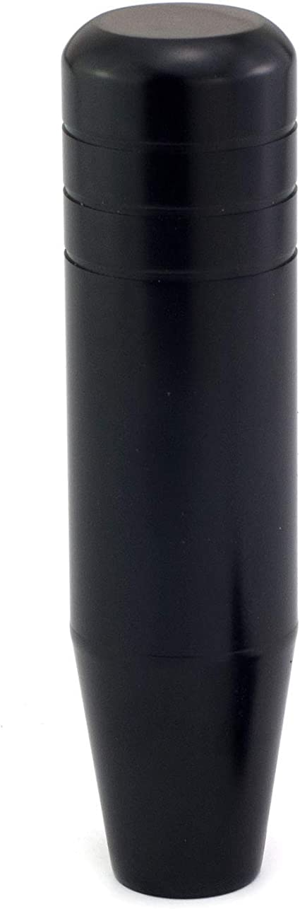 Black Aluminum Alloy Car Stick Shift Fit Most Manual Automatic Vehicles Thruifo 5.12 Bullet Style Gear Knob Shifter Head