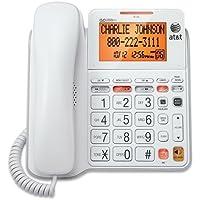 Phone Cord, Att Cl4940 Corded Home Office Desk Landline Phone Speaker, White