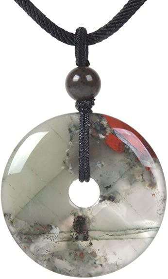 Mens Magnetic Hematite Cross Pendant~Red Jasper Stones~Necklace Great Gift!!!