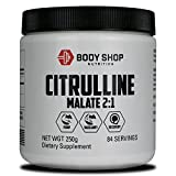 Body Shop Nutrition - 100% Pure Citrulline Malate 2:1 - Best Pump and Vascularity Supplement - 250g Powder - 84 Servings