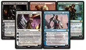 Set of Commander 2014 Oversized Planeswalkers MTG Magic Cards - Teferi, Ob Nixilis, Freyalise, Daretti, Nahiri