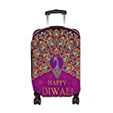 Cooper girl Happy Diwali Peacock Travel Luggage Cover Suitcase Protector Fits 31-32 Inch