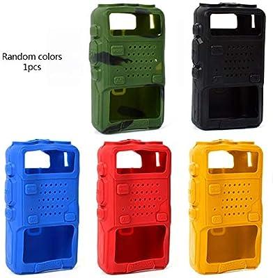 5 Colores/Set Funda de Goma de Silicona Parachoques Uv-5R Funda para Radio bidireccional F8 + UV 5R Uv-5Re Dm-5R Accesorios para walkie Talkie Uv5R: Amazon.es: Electrónica
