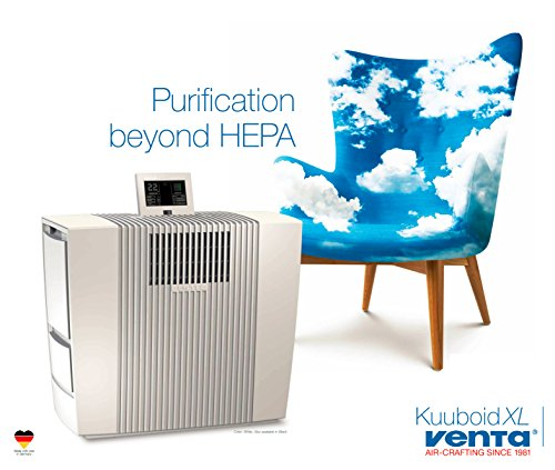 ALL NEW Venta Kuuboid Premium Air Purifier with Twin VentaCel Nelior Filters (Beyond HEPA) to Reduce Allergies, Viruses, Bacteria, Odors, Smoke and More - Most Powerful and Quietest Air Purifier by Venta