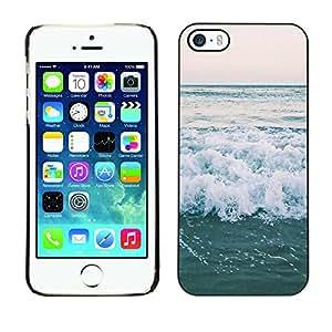 LASTONE PHONE CASE / Carcasa Funda Prima Delgada SLIM Casa Carcasa Funda Case Bandera Cover Armor Shell para Apple Iphone 5 / 5S / Cool Ocean Horizon Sea Surf Summer