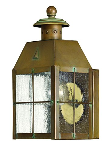 Hinkley 2376AS Restoration One Light Wall Mount from Nantucket collection in Brassfinish, ()