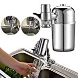 Faucet Water Filter -Tap Water Purifier Filter,Best Chlorine Removing Filtration System & Cartridge For Kitchen And Bathroom Sink