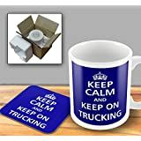 Keep Calm - And Keep On Trucking - Mug and Coaster Set by The Victorian Printing Company