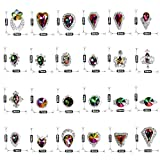 Ownsig 48pcs Colorful Crystals Nail Art Rhinestones Charms Gems Stones Decoration Craft Jewelry DIY
