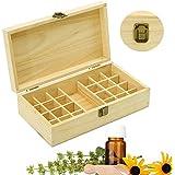 Boîte d'Huile Essentielle Organisateur Rangement en Bois Boîte de Stockage Pour 24 Bouteilles