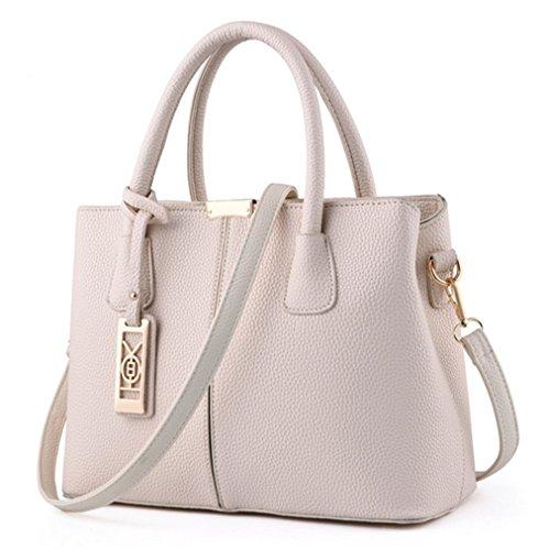 Nodykka Women Fashion Top Handle Satchel Handbags Shoulder Bag Tote Purse Messenger bag Large Simple Black Handbag ()