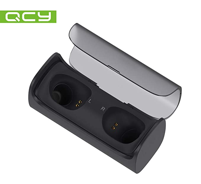 QCY q29 Pro - Auriculares in-Ear de Bluetooth Inalámbricos con ladecase (Power Bank), True Wireless High-End Sound, Gran batería y micrófono (Negro) Negro: ...