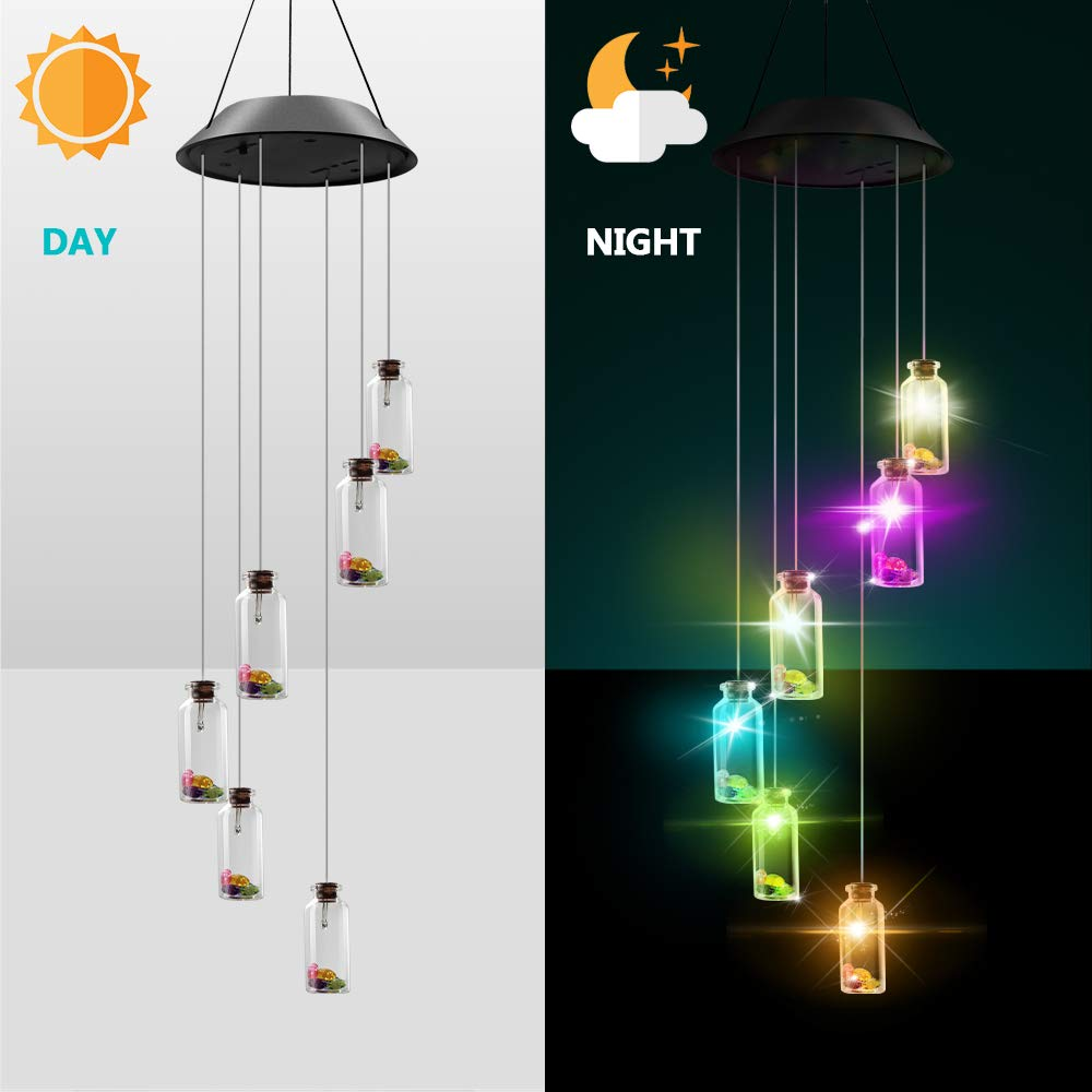 Windbell Carillon Solaire LED Lumi/ère Solaire Mobile Carillon Changeant de Couleurs Solar Wind Chimes Lampe Solaire pour Jardin Patio D/écoration ext/érieure