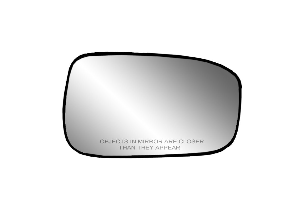 Fit System 30208 Passenger Side Heated Replacement Mirror Glass with Backing Plate