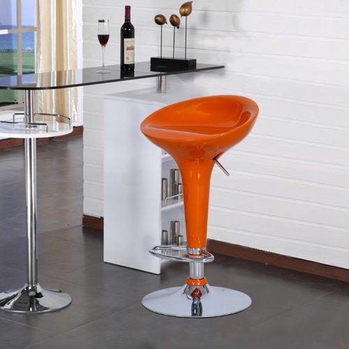 Modern Glossy Orange And Chrome Adjustable Swivel Bar  : 51rQkRpxplL from www.ebay.co.uk size 500 x 500 jpeg 34kB