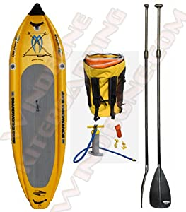 """Boardworks Badfish MCIT 10' 6"""" Inflatable Stand-Up Paddle Board -Bundled with FREE Adjustable SUP Paddle by Boardworks"""