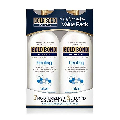 Gold Bond Ultimate Healing Skin Therapy Lotion with Aloe, 2 pk./20 oz. (Best Skin Healing Lotion)