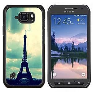 Dragon Case - FOR Samsung Galaxy S6 active/G870A/G890A (Not Fit S6) - glitter bling party abstract pattern - Caja protectora de pl??stico duro de la cubierta Dise?¡Ào Slim Fit