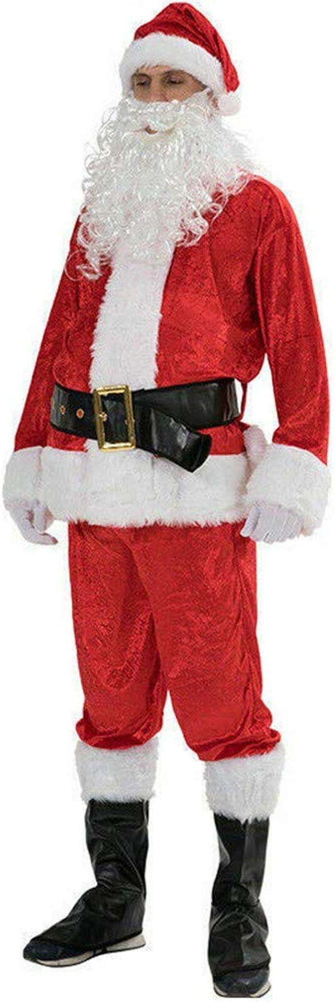 Babbo NATALE costume Babbo Natale-Cappotto da PELUCHE