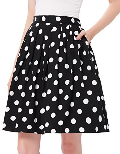 50s Vintage Style Skirts for Women Polka Dot CL6294-2 L