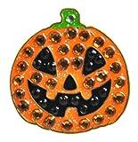 Navika Halloween Crystal Golf Ball Marker & Hat/Visor Clip - (Pumpkin)