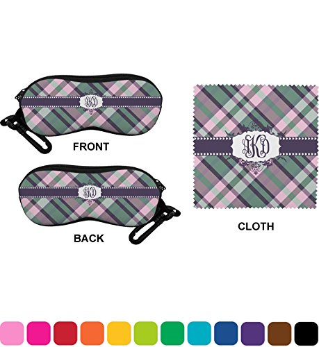Plaid with Pop Eyeglass Case & Cloth (Personalized)