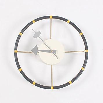 1ef8abcabd72 Limiz Moda creativo mudo relojes colgantes sala de estar reloj internacional  ronda relojes y decoración del hogar reloj volante  Amazon.es  Hogar