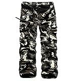 K3K Hot! New Mens Winter Cotton Plus Velvet Military Camouflage Pants