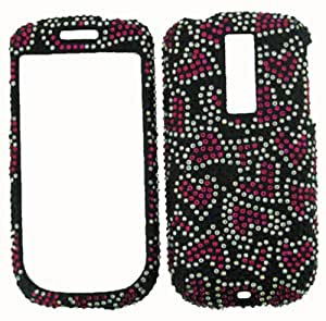 HEARTS RHINESTONE BLING HARD CASE COVER HTC MYTOUCH 3.5 ACCESSORY