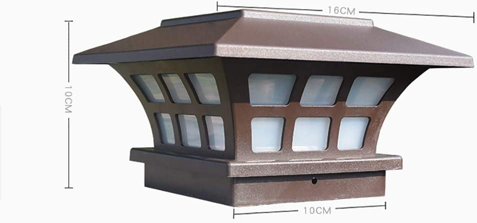 Luz exterior de poste de Vía de Barrera de Patio de Jardín – Poste Solar Luces Valla Exterior Puente Cap Light Solar Propulido, LED Impermeable para Jardín Patio Decoración: Amazon.es: Hogar