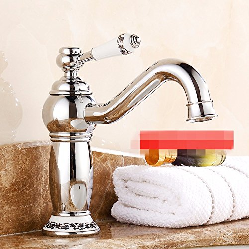 I Hlluya Professional Sink Mixer Tap Kitchen Faucet The tap cold water gold taps basin with high surface basin Mixer Taps antique antique pink gold,