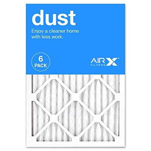AIRx DUST 14x20x1 MERV 8 Pleated Air Filter - Made in the USA - Box of 6 by AIRx Filters