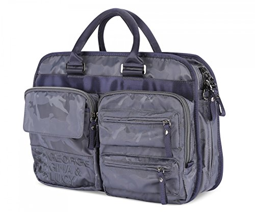 George Gina & Lucy Nylon Laptop 17 Cartella blu scuro
