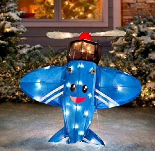 Rudolph the Red Nosed Reindeer Island of Misfit Toys-Blue Plane That Could Not Fly Christmas Tinsel Decoration-VERY RARE!! (Christmas Decorations Tinsel)