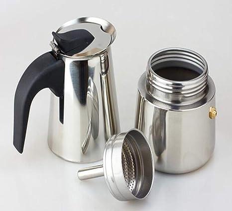 Amazon.com: Tetera para cafetera de acero inoxidable, diseño ...