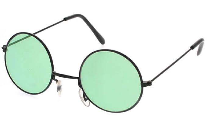 8106ee9b446 JOHN LENNON OZZY OSBOURNE SUNGLASSES  Green Lens Black Frame  Amazon ...
