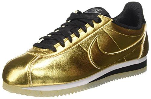 Nike Classic Cortez Leather SE Women's Metallic Gold Sneaker Shoes (Large Image)