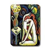 3dRose LLC lsp_21210_1 Roses and Mandalas Women Fine Art Colorful Meditation Single Toggle Switch