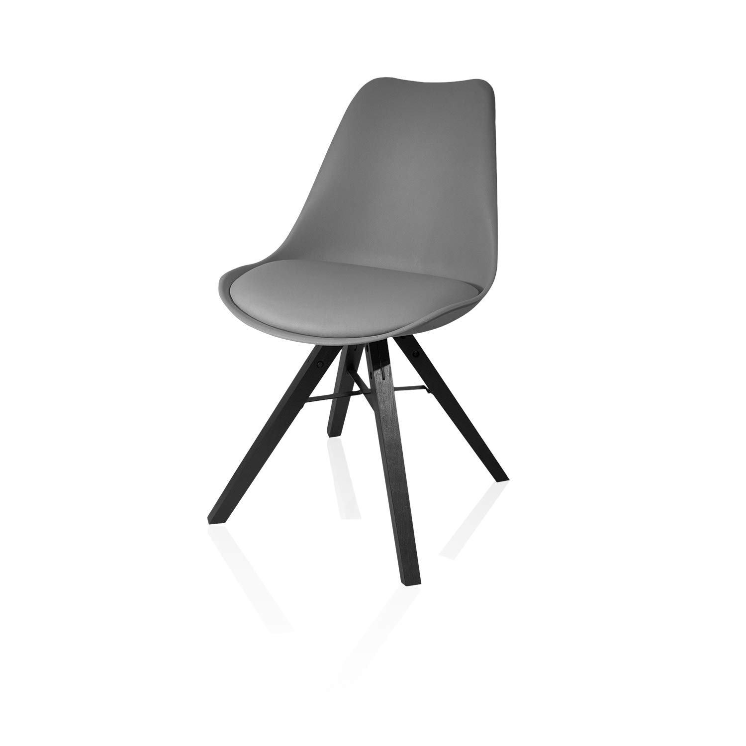 Heyesk Dining Room Chair Mid Century Modern Kitchen Chairs,Upholstered  Seat(Grey, 1)