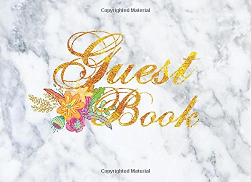 Download Wedding Guest Book : White Marble And Gold Font For Wedding Guest Book,150 Paper pdf epub