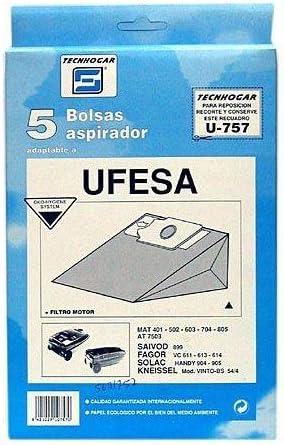 Tecnhogar - Caja 5 Bol. Asp.Ufesa Mt-502: Amazon.es: Bricolaje y herramientas