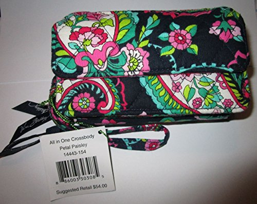 Vera Bradley Womens All In One Crossbody Petal Paisley One Size