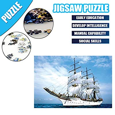 SNOWSONG Jigsaw Puzzle 1000 Pieces for Adults, Famous Landscape Building Pattern Adult Children Puzzle Kids Intellective Educational Toy: Toys & Games