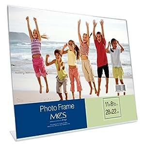 MCS 8.5x11 Inch Bent Acrylic Picture Frame, Horizonal (33815)