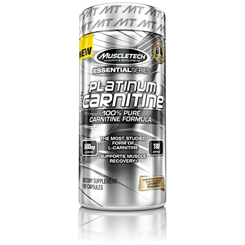 MuscleTech Platinum Carnitine 500 mg, 180 Count